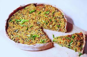 Gemüse-Linsen-Kuchen