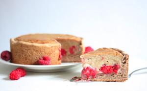 Pudding-Himbeer-Kuchen