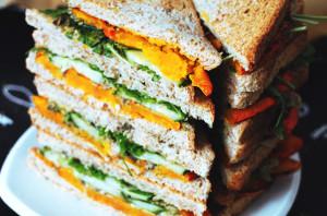 sommerliches Kürbis Sandwich