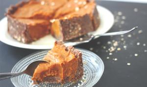 ungebackener Kürbis Kuchen