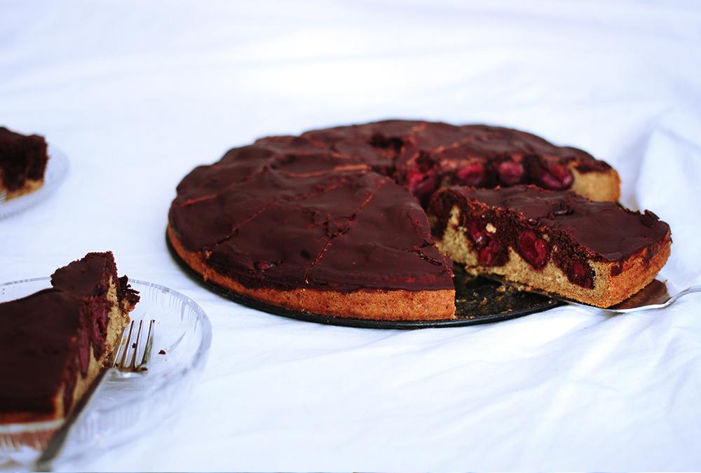 Kirsch Marmorkuchen (vegan, glutenfrei)