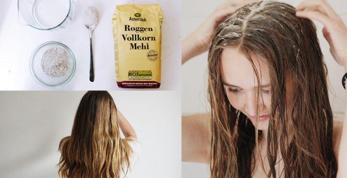 Schöne Haare mit Roggenmehl & ohne Shampoo